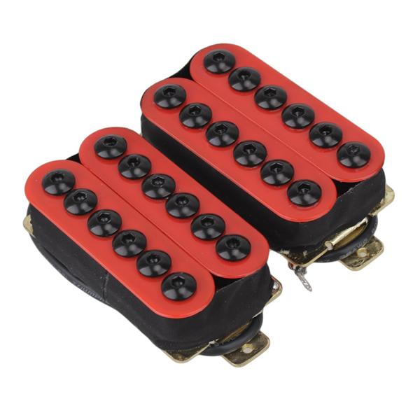 lovermusic One Pair Ceramic Magnet Humbucker Guitar Pickup Red Replacement for Double-H Guitar